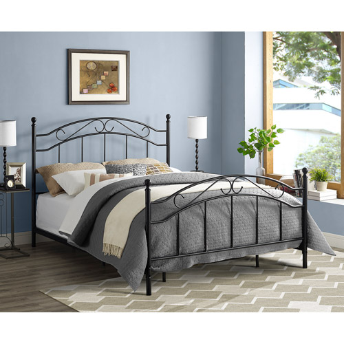 Mainstays Queen Metal Bed, Black