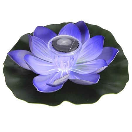 Lixada Solar Powered LED Lotus Flower Light RGB Water Resistant Outdoor Floating Pond Night Light Auto On / Off ()