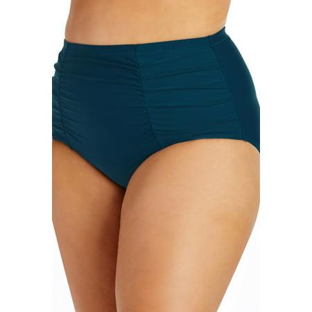 Curved Panty (Raisins Curve Women's Costa High Waisted Bottom-20-Navy )