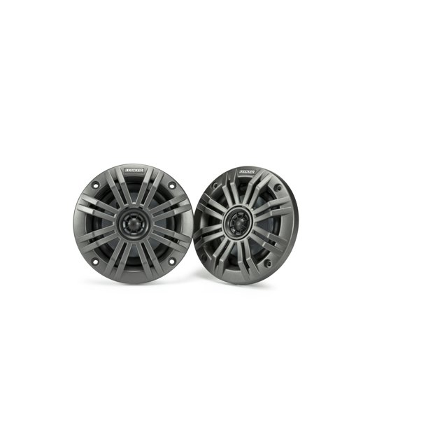 Kicker Refurbished KM4 4-Inch (100mm) Marine Coaxial Speakers with