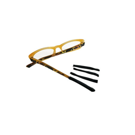 Soft Tip Non-Slip Temple Arm End Covers for Eyeglasses Sunglasses (Eyeglass Temple Covers)