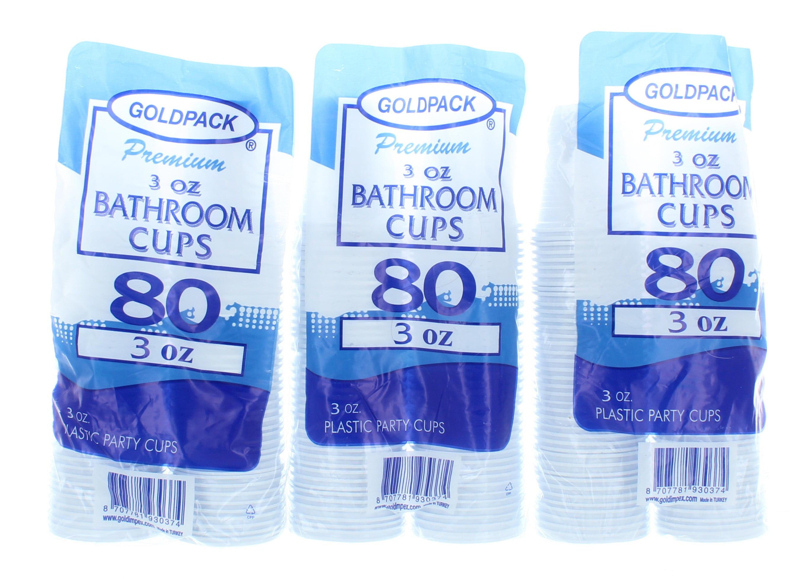 Plastic Bathroom Cups 3oz