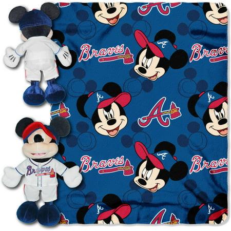 Atlanta Braves Applique - Disney MLB Atlanta Braves Pitch Crazy Hugger Pillow and 40