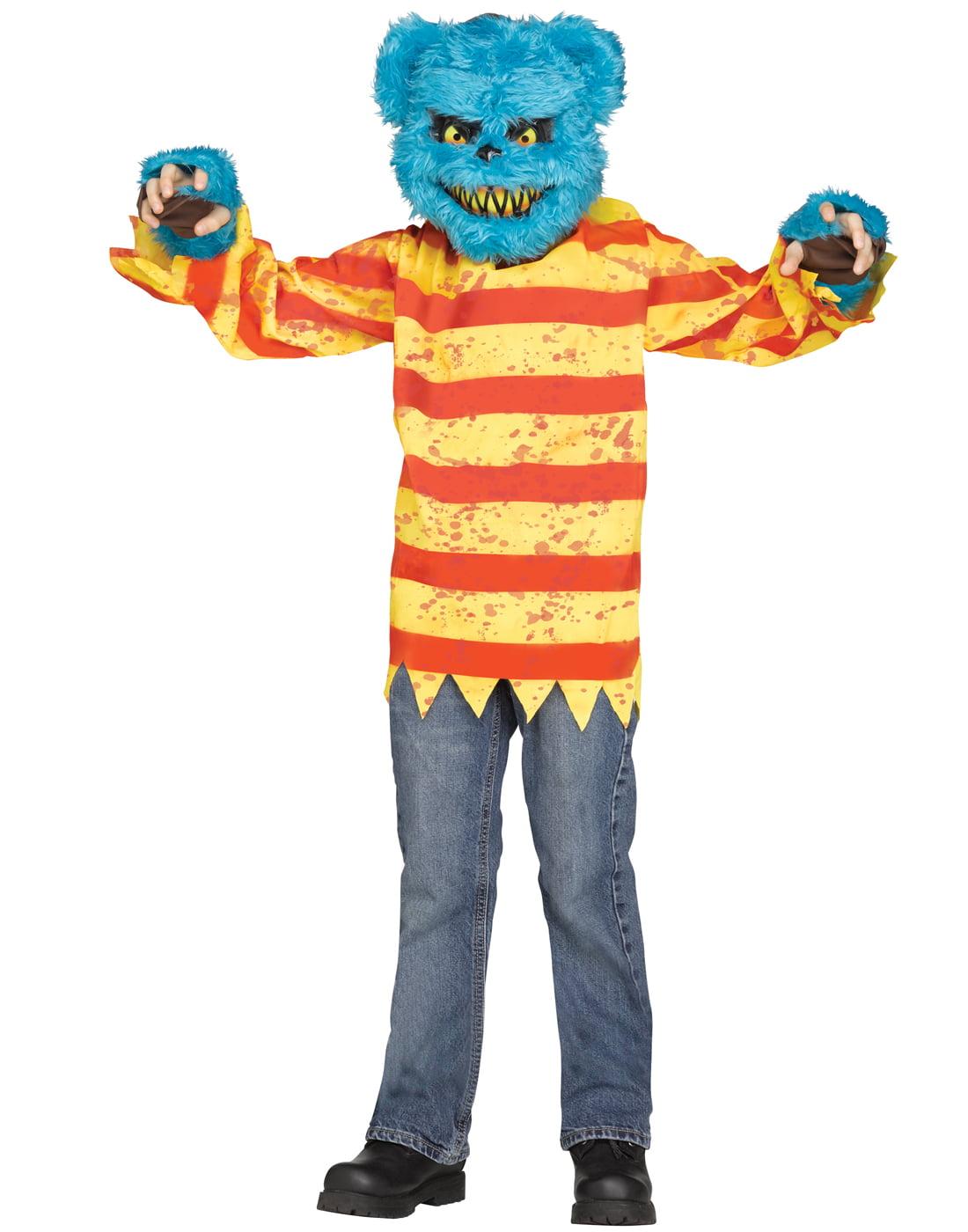 Furry Creepy Killer Bear Boys Scary Halloween Costume With Mask