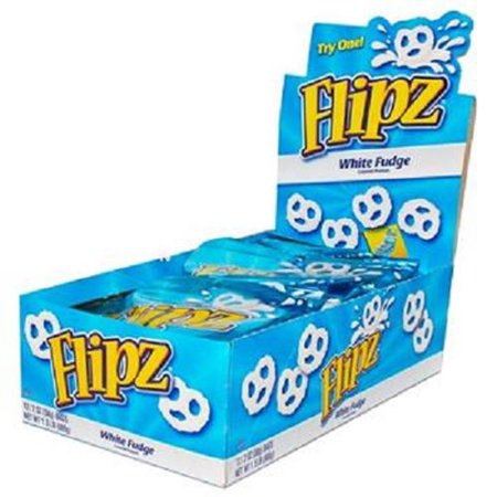 Flipz White Fudge Pretzel, 2-Ounce (Pack of 12)