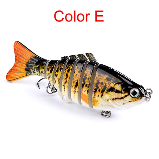 1PC Fishing Lures 10cm Plastic Hard Bass Baits 5 Colors Minnow