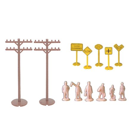 Bachmann Industries Layout Accessories Assortment Ho Scale, 12 telephone poles By Bachmann