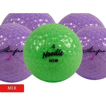 Optical Crystal Golf Award - Crystal Colors Golf Balls, Assorted Colors, Used, Good Quality, 100 Pack