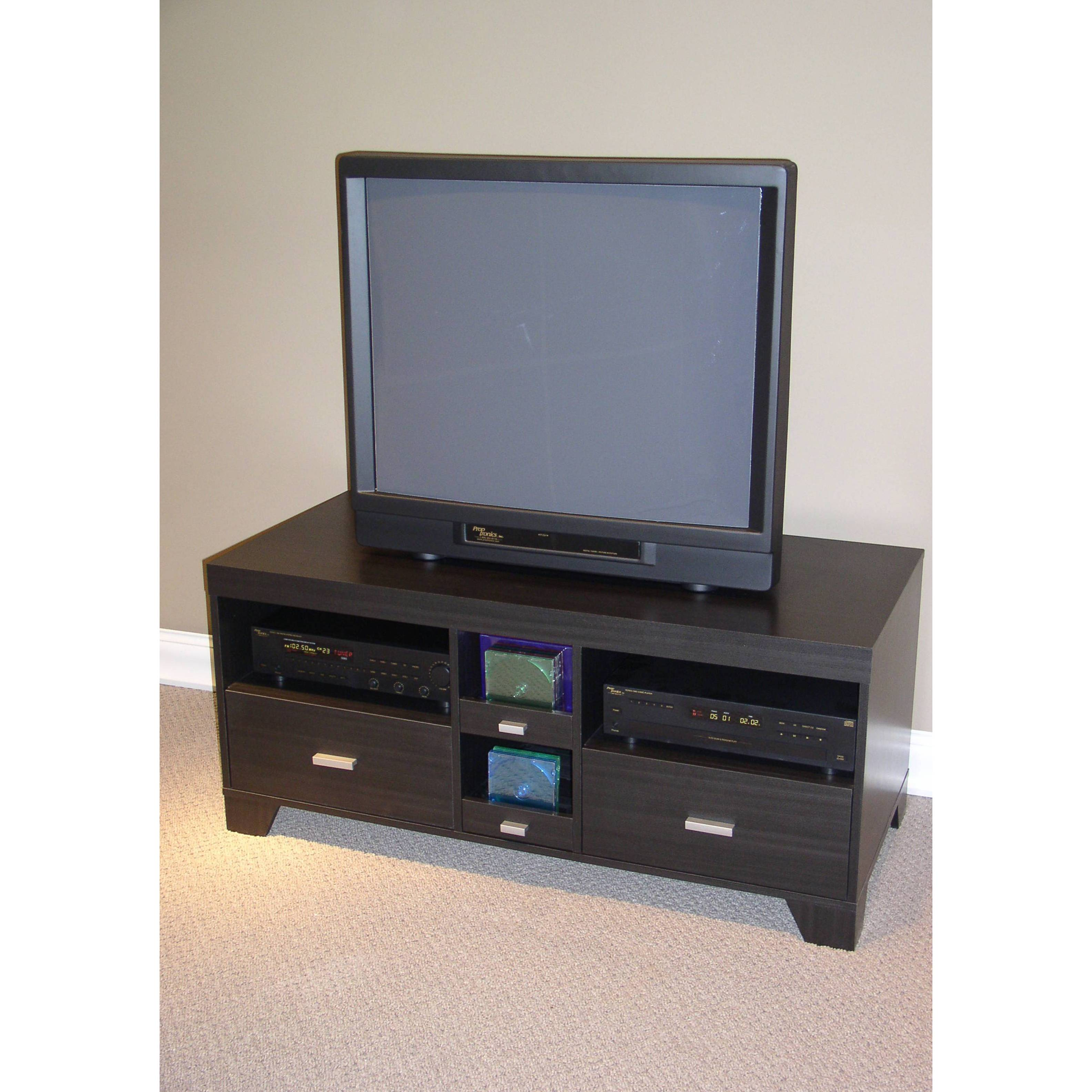 Tv Stand Black Tv Stand With Drawers For Tvs Up To 52 Walmartcom