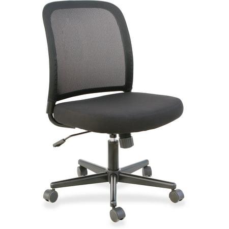 Lorell, LLR83304, Mesh Back Armless Task Chair, 1 Each, Black