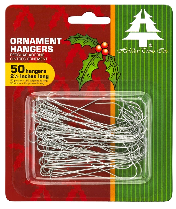 2.5 Inches 50 Pack Darice Ornament Hangers Silver