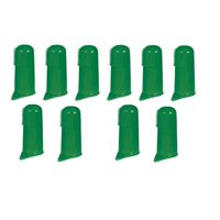 Green Finger Toothbrushes for Dogs and Cats Pet Oral & Dental Care - Bulk Too (10 Toothbrushes)