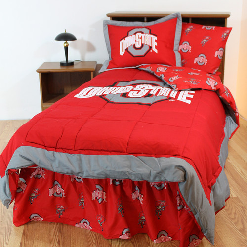 College Covers NCAA Ohio State Reversible Bed in a Bag Set