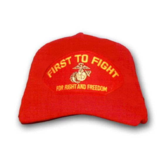 USMC 'First to Fight' for Right and Freedom with EGA Marine Corps Red Cap