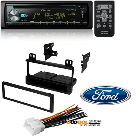 Pioneer CD Receiver with Enhanced Audio Functions, MIXTRAX, Built in Bluetooth and SiriusXM Ready W/ Mounting Kit-FMK550 for 1995-2011 Ford/Lincoln/Mazda/Mercury American International Fmk550 Ford Radio