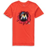 MLB Miami MARLINS TEE Short Sleeve Boys OPP 100% Cotton Alternate Team Colors 4-18