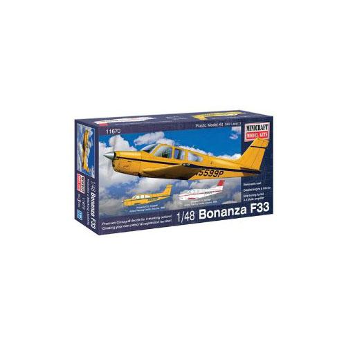 Minicraft Bonanza F-33 Airplane Model Kit (1/48 Scale) Mu...