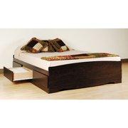 Prepac Edenvale Queen Platform Storage Bed, Espresso