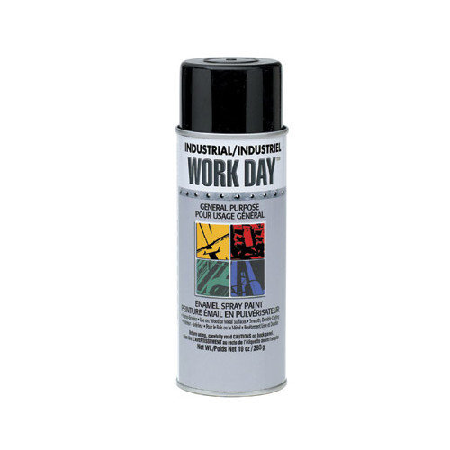 Krylon Flat Black Industrial Work Day  Enamel Paint