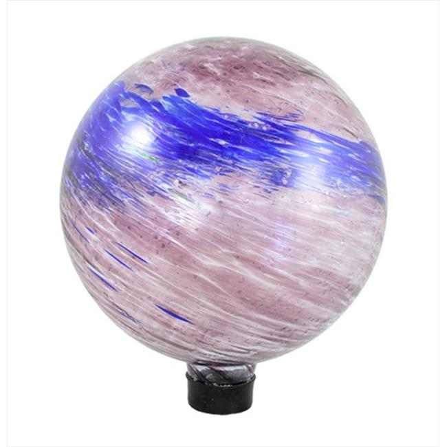 NorthLight 10 in. Dusky Rose Pink And Blue Swirled Glass Outdoor Patio Garden Gazing Ball by NorthLight