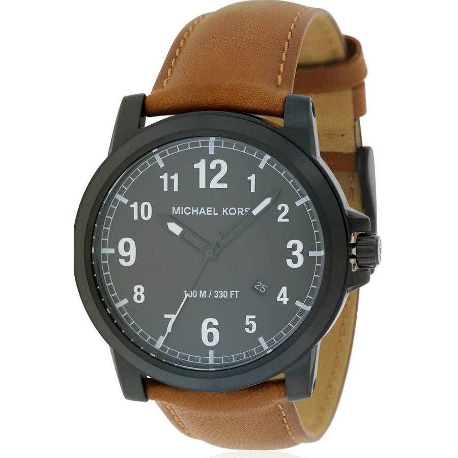 Michael Kors Paxton Leather Mens Watch MK8502 by Michael Kors