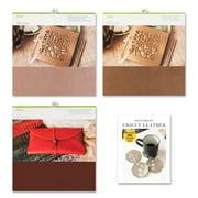 Cricut Machine Genuine Leather Sheet Bundle - Metallic Rose, Bronze and Brown