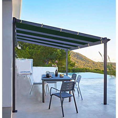 Shatex 6x8ft Wine Red Outdoor Waterproof Sunscreen Shade Panel Ready-to-tie  Ropes designed for Pergola/Patio/Window/RV Awning