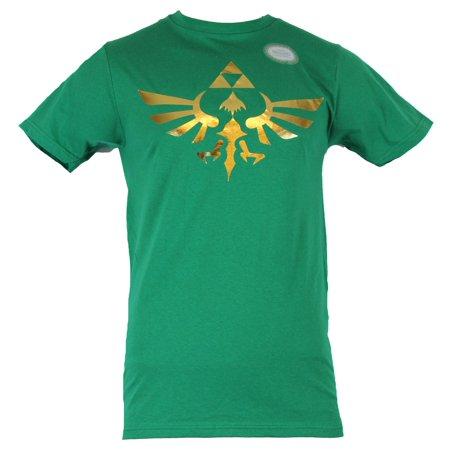 Legend of Zelda Mens T-Shirt - Gold Foil Classic Tri-Force Logo (Force Tin)