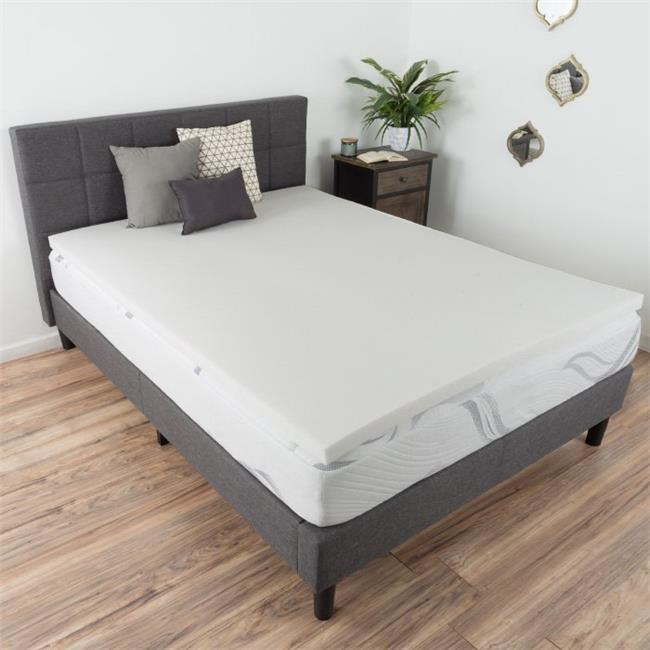 Bluestone M892035 2 in. Memory Foam Mattress Topper, Twin Extra Large Size