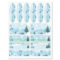 Chrismtas Forest Gift To/From Labels - Set of 42 gift tags