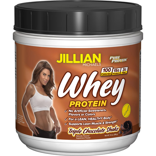 Jillian Michaels Natural Whey Protein Powder, Chocolate, 14 oz