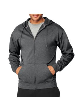 Hanes Men's and Big Men's Sport Performance Fleece Full-Zip Hoodie, Up to Size 2XL
