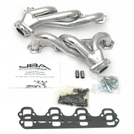 - JBA Headers 1627SJS for 87-95 FORD TRUCK 5.0L Silver Ceramic Coating