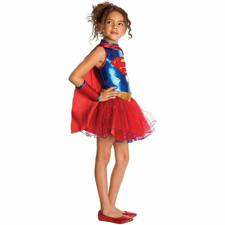 Supergirl Tutu Toddler Halloween Costume, Size 3T-4T (Toddler Tutu Costume)