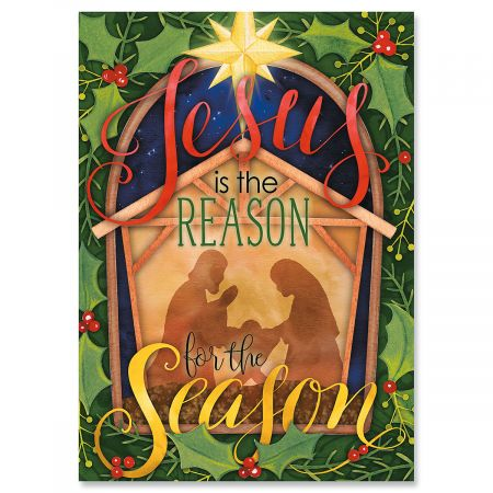 Nativity Christmas Greeting Cards- Set of 18 Holiday Greeting Cards