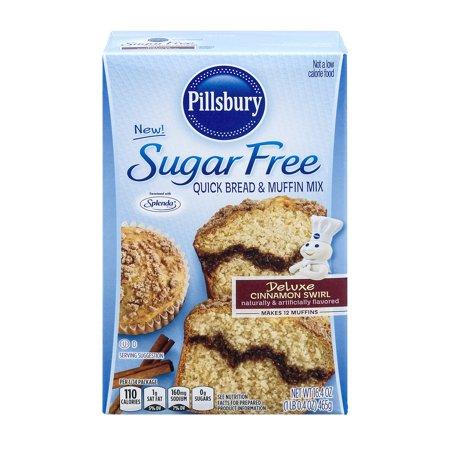Kosher Bread Mix - Pillsbury Sugar Free Deluxe Cinnamon Swirl Quick Bread & Muffin Mix, 16.4 oz