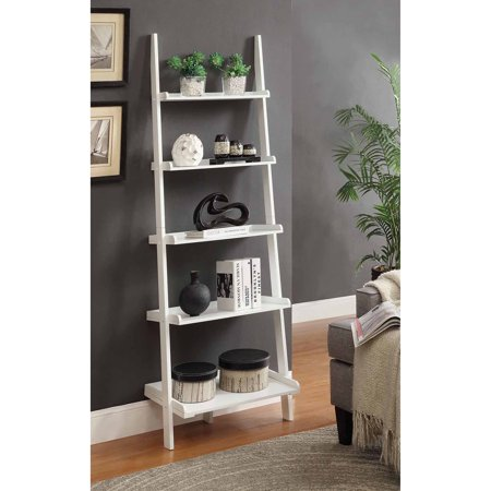 Convenience Concepts French Country Bookshelf Ladder White Walmart Com