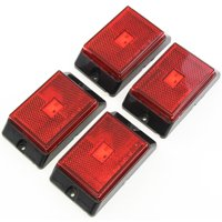 4 Red LED Side Marker Lights 4 Inches Truck Trailer Pickup Boat Bright