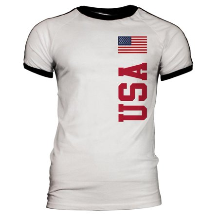 World Cup USA Mens Soccer Jersey T-Shirt Barcelona Home Soccer Shirt