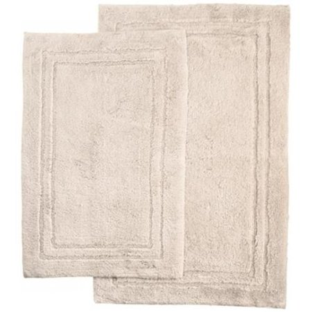 cotton bath rug set stone