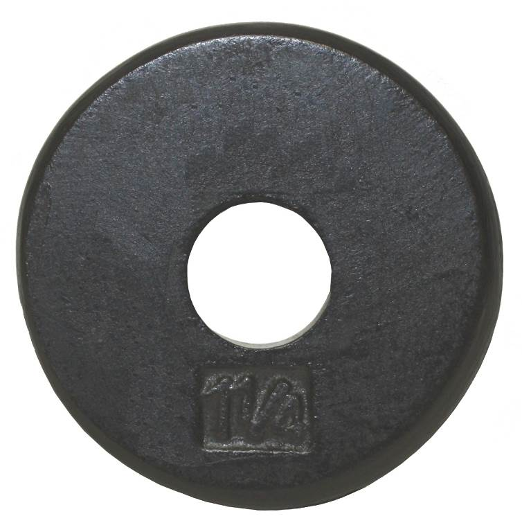 USA Sports Black Standard Weight Plate (4.5 in. Dia x 1 in. H (1.25 lbs.))