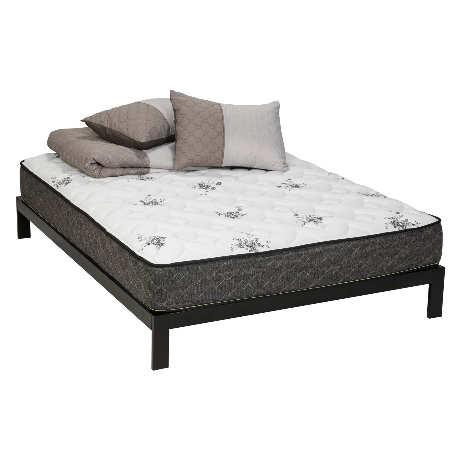 Tranquility Firm Hybrid Wrapped Coil, Memory Foam Mattress and Platform Set