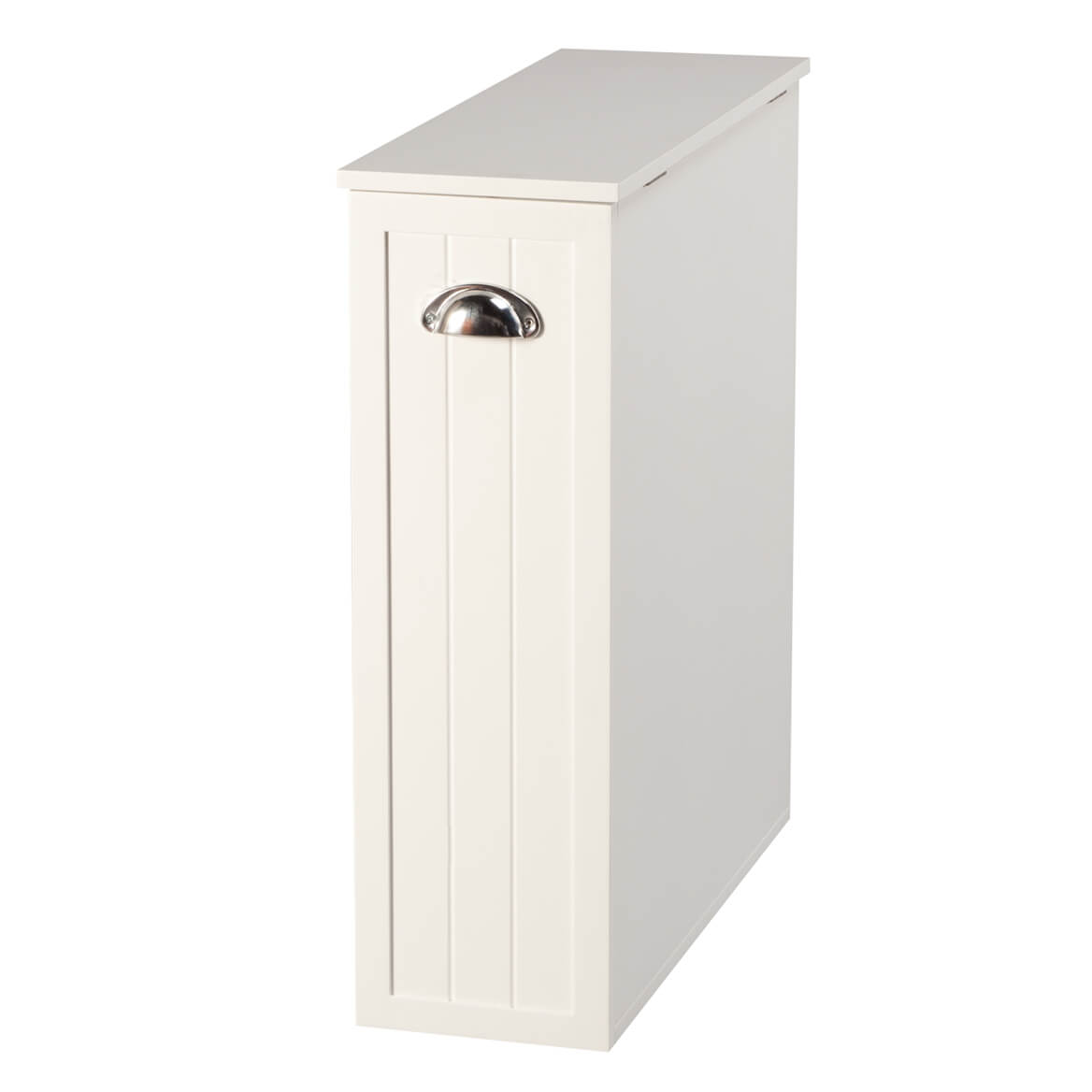 Oakridge Slim Bathroom Storage Cabinet With Slide Out Shelf Hinged