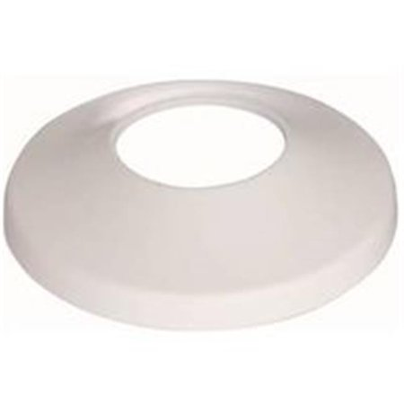 Slip Flange - Shallow Bath Flange, 0.75 in. IPS Slip, Plastic - White