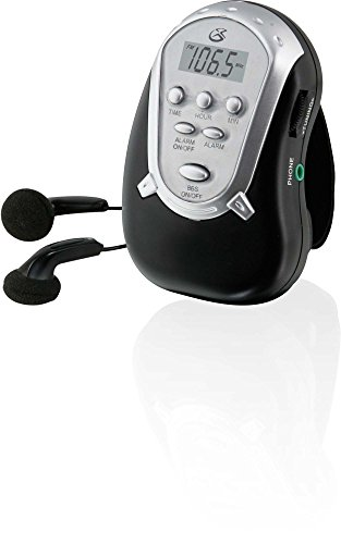 GPX R300B AM//FM Armband Radio with Earbuds