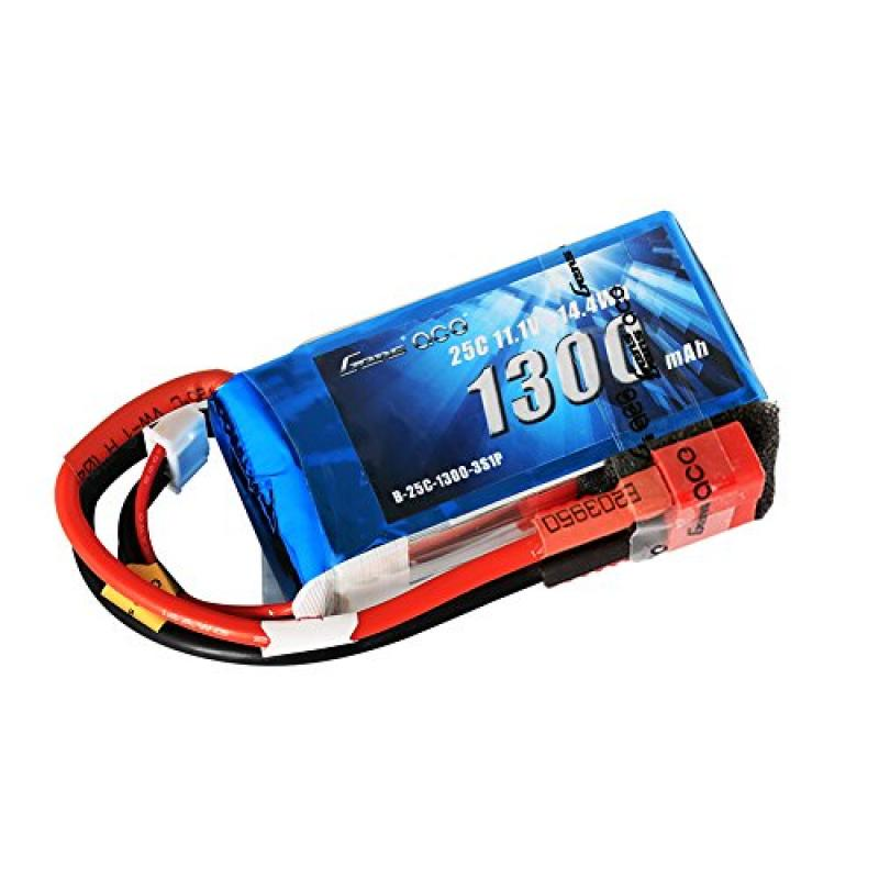 Gens ace LiPo Battery Pack 1300mAh 25C 3S 11.1V with Dean...