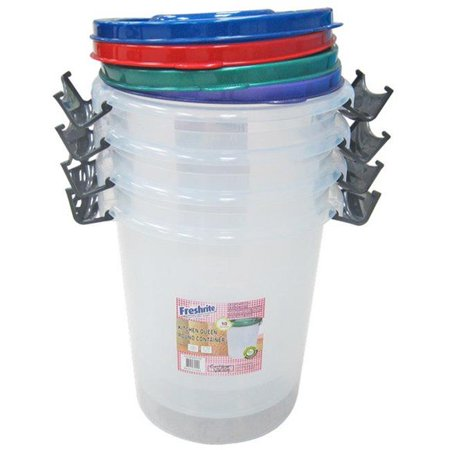 Kitchen Queen 10 Liter Round Container - CASE OF 24 10 Liter Small Animal Bedding