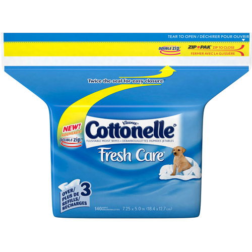 Kleenex Cottonelle Fresh Care Flushable Moist Wipes Refills - 140 CT