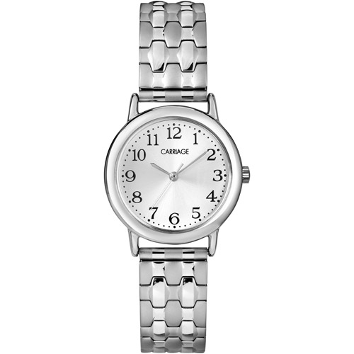Carriage by Timex Women's Carly Watch, Silver-Tone Stainless Steel Expansion Band