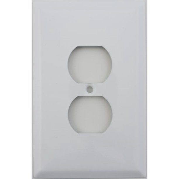 Over Sized Jumbo Smooth White One Gang Duplex Outlet Wall Plate Walmart Com Walmart Com
